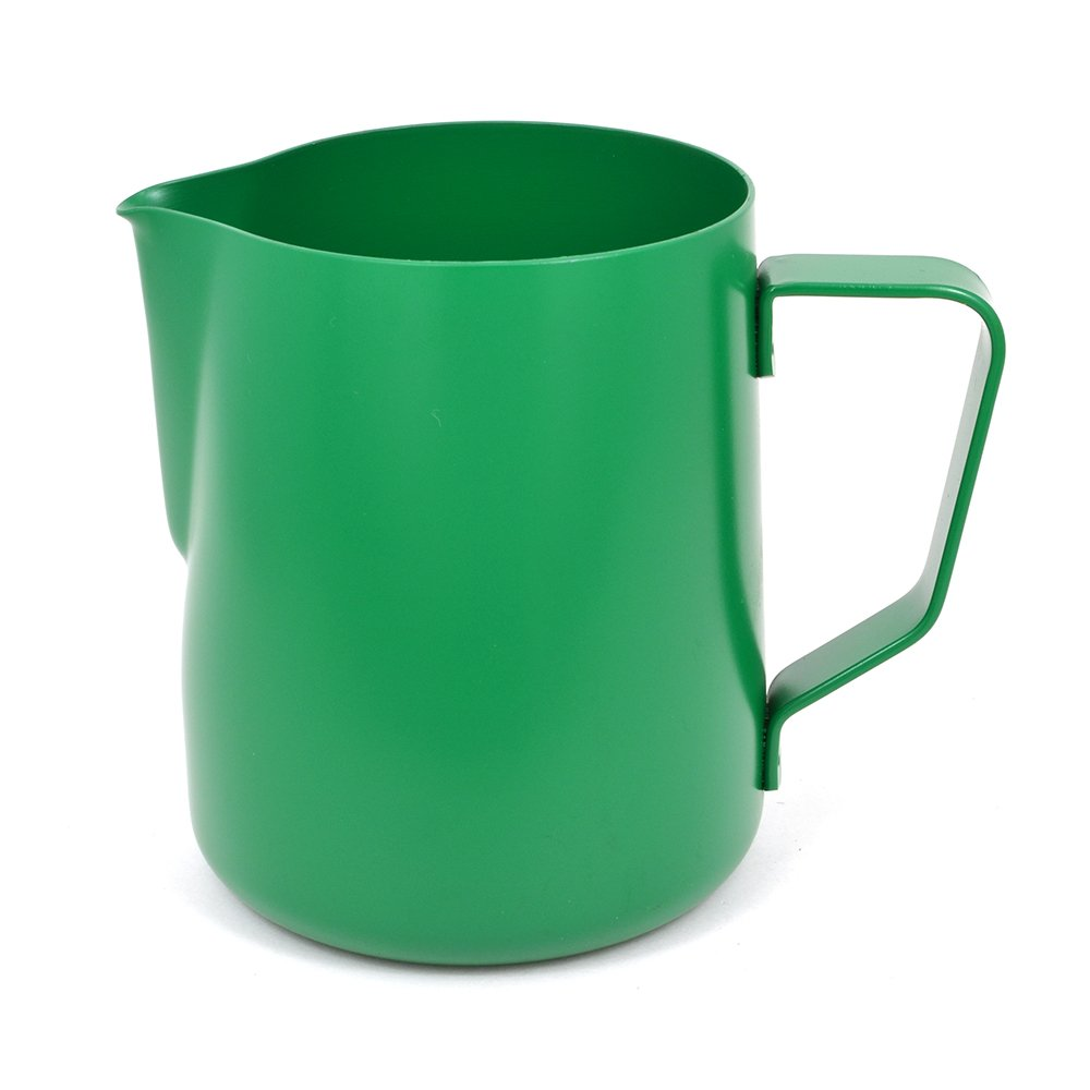 BrewGlobal Rhinoware Stealth Milk Pitcher, Stainless Steel 32 oz - Green (RHGR32OZ)