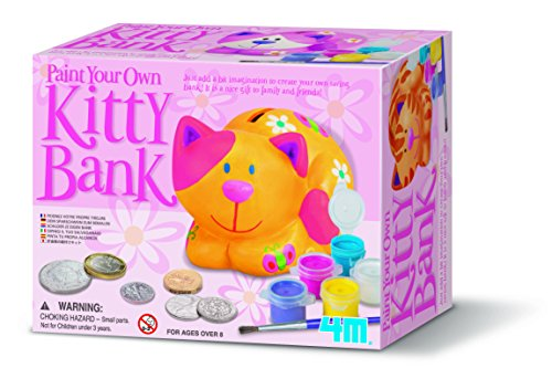 - 4M Paint Your Own Kitty Bank