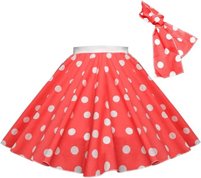 Kids 1950s Clothing & Costumes: Girls, Boys, Toddlers Childrens Polka Dot Skirt Rock n Roll 50s/ 60s Style £6.49 AT vintagedancer.com