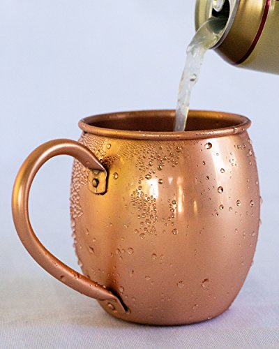 Solid Copper Moscow Mule Mug - 100% Pure Copper - Authentic Moscow Mule Mugs (16 oz Barrel) 16 Oz Barrel Mug