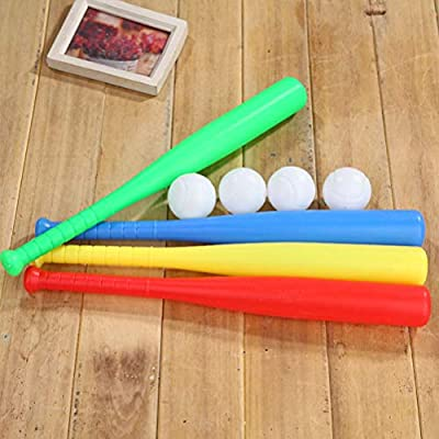 LIOOBO 4 Sets de Kit de Bate de béisbol de plástico con ...