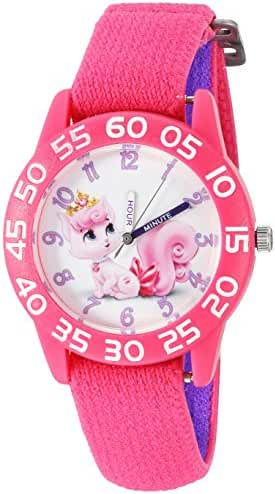 Disney The Princess & The Frog Kids' W002838 Palace Pet Analog Display Analog Quartz Pink Watch