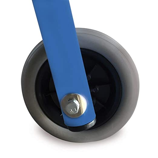 Andador de acero con dos ruedas y asiento acolchado | Ligero ...