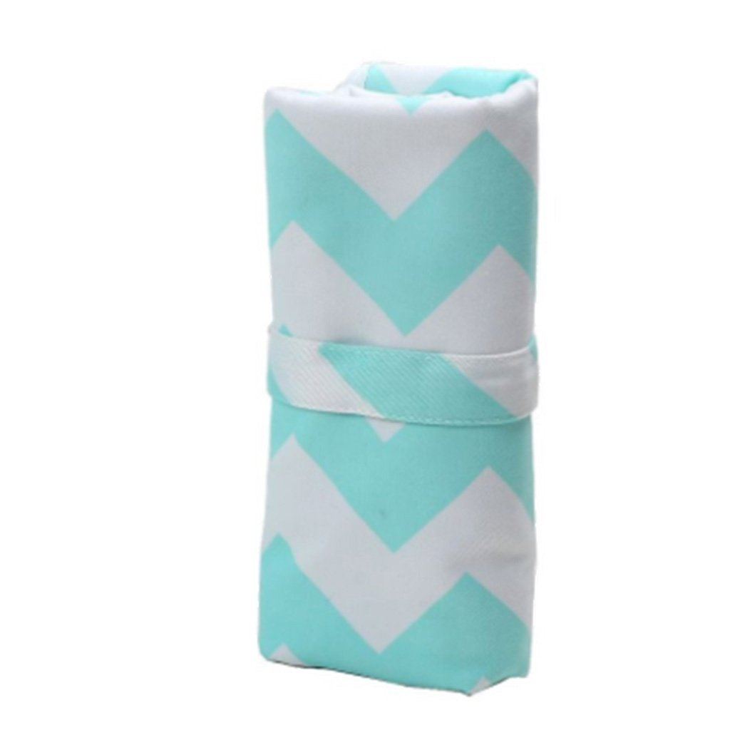 Green Toygogo Baby Portable Diaper Travel Changing Pad Waterproof Nappy Change Mat Cover as described