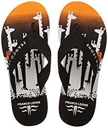 7d6b94115 Franco Leone Men s Orange and Black Flip-Flops and House Slippers - 10 UK