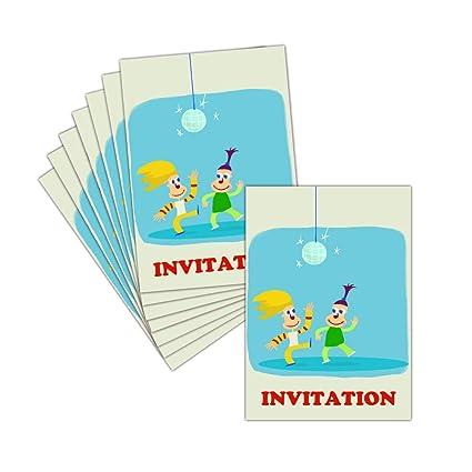 Tarjeta invitaciones Fiesta bola de discoteca - 8 tarjetas ...