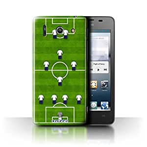 STUFF4 Phone Case / Cover for Huawei Ascend G510 / 4-1-2-1-2/White Design / Football Formation Collection