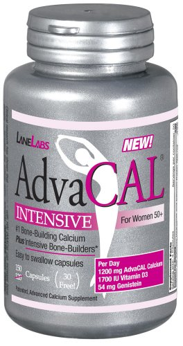Lane Labs – AdvaCAL Intensive Calcium, For Women 50+, With 1,700 IU Vitamin D, Easy to Swallow (150 Capsules)
