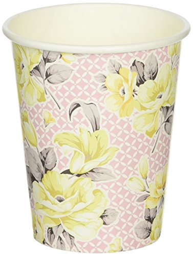 Talking Tables Truly Scrumptious Floral Paper Cups for a Tea Party, Pink/Yellow (12 (Vintage Tea Cups Cheap)