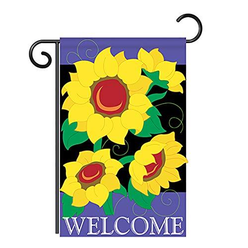 (Breeze Decor Two Group G154054-P2 Sunflowers Spring Floral Applique Decorative Vertical 13