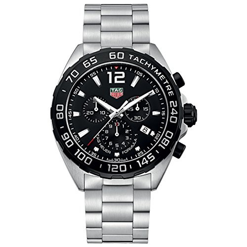 Tag Heuer Chronograph Wrist Watch - Tag Heuer Men's 'Formula 1' Swiss Quartz Stainless Steel Dress Watch, Color:Silver-Toned (Model: CAZ1010.BA0842)