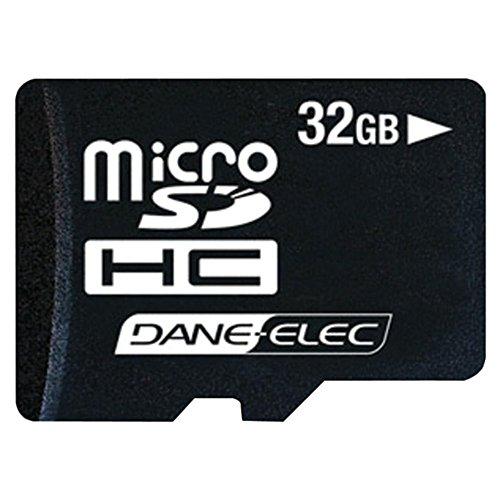 (Dane DA3IN132GR 32GB microSD Card W/Standard 60x Speed & 10 Year Warranty Camera Accessories)