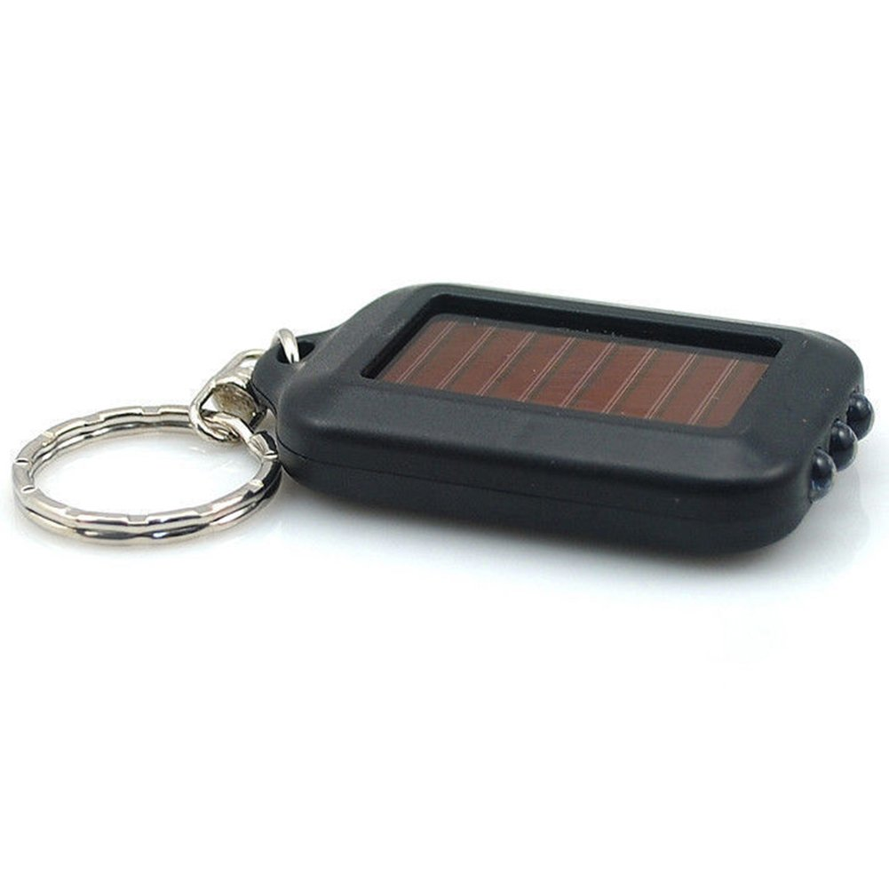 Mini Portable Solar Power 3 LED Light Lamp Keychain Torch Flashlight Key Ring GlobalDeal