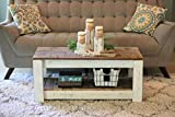 White Combo Coffee Table with Shelf