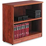 Alera Valencia Series Bookcase/Storage Cabinet, 2 Shelves, 32 W 14 1/2 D 30 H, Medium Cherry