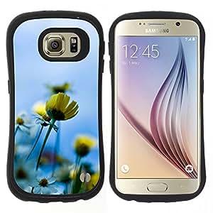 """Pulsar iFace Series Tpu silicona Carcasa Funda Case para Samsung Galaxy S6 , Azul Amarillo Sol Campo de Verano"""""""