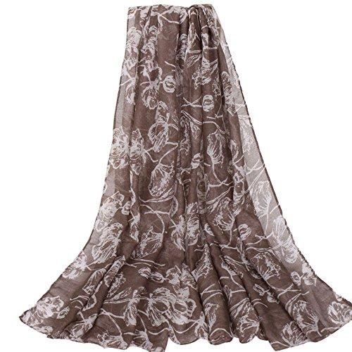 URIBAKE Fashion Women's Scarf Printing Floral Long Soft