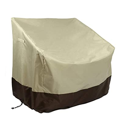 Pannow Patio Chair Cover, Outdoor Seat Cover Reclining Garden Chairs Protective-Black Cover with Waterproof PVC Lining, Chair Cover Protector for Furniture Protecting, 33.5x31.5x36 Inch : Garden & Outdoor