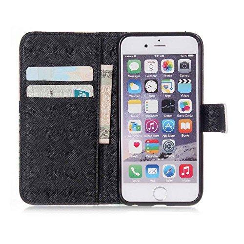 König Boutique Apple iPhone 6Plus Housse Coque + 1Char Verre de protection sac coque de protection Case Cover Étui Coque Étui de protection portefeuille à rabat Étui à rabat en cuir synthétique Insc