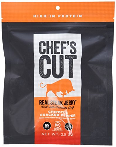 Chef's Cut Real Steak Jerky Chipotle Cracked Pepper, 2.5 Ounce, 8 Count by Chef's Cut