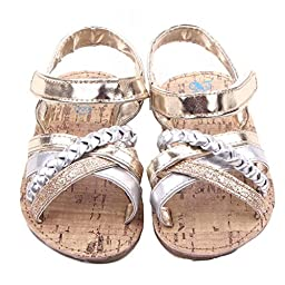 Baby Shoes Mosunx(TM) Kid Girls Outdoors Sandals Toddler Princess Sneakers Casual Shoes (12~18 Month, Gold)