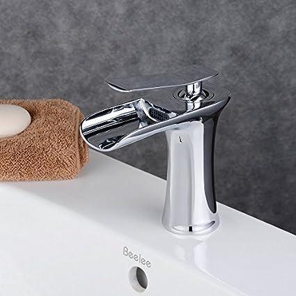 Beelee BL9009C Modern Single Handle Waterfall Spout Bathroom Sink ...