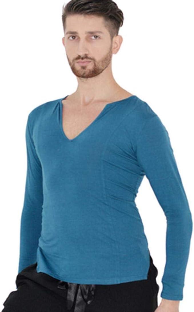 DESY Nuevo Baile Trajes de Baile Latino Trajes de Ballet Camisa de los Hombres: Amazon.es: Ropa y accesorios
