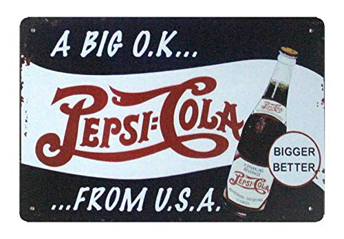 (WholesaleSarong A Big O.K. Pepsi-Cola tin Metal Sign Garage Wallpaper Restaurant Lounge Garage Decor)