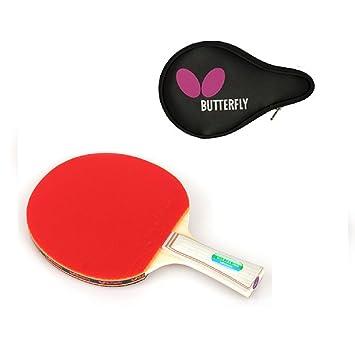 (Juego) Butterfly Wakaba S10 raqueta de tenis de mesa Paddle (Shake mano Grip) con Logo Full Funda: Amazon.es: Deportes y aire libre