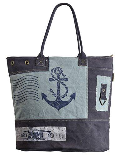 a98c0ae9f9ece Sunsa große Damen Tasche Badetasche Shopper Schultertasche Handtasche aus  Canvas   Segeltuch