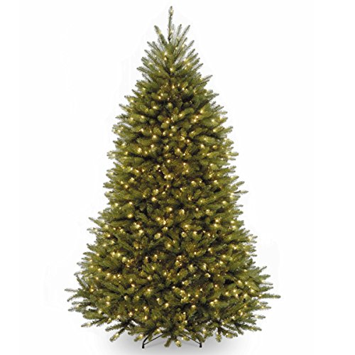 Fold Up Christmas Tree (National Tree 7.5 Foot Dunhill Fir Tree with 600 Clear Lights)