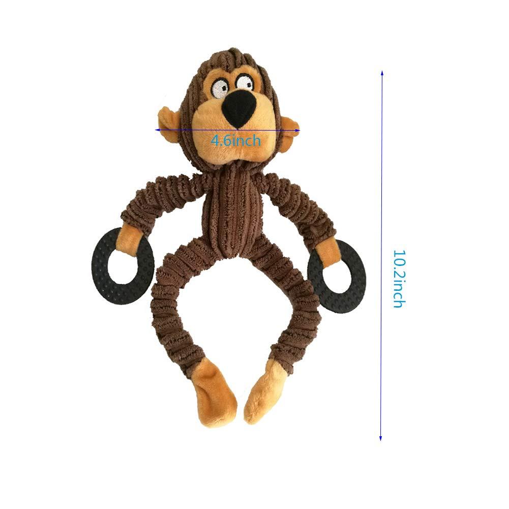 medianos y Grandes Bello Luna Juguete para Perros Mono Mono con Anillo de Goma para Cachorros Perros peque/ños