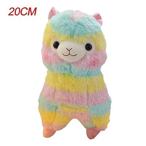 Juguete de peluche para niños Juguetes de figuritas de alpaca del arco iris para niños Muy