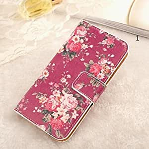 MOM ships in 48 hours Flower Pattern Full Body Case with Card Slot for Samsung S4 I9500(Assorted Colors) , 1