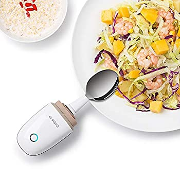Image of Eating & Drinking Aids Parkinson Spoon for Hand Tremor, GYENNO Steady Spoon with Self Stabilizing Smart Lift Kit for Parkinsons Patients, Silverware Kit Cutlery for Elderly (Light White, Lite)
