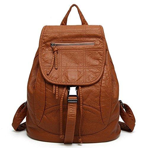 en cuir sac sac Lavé à bandoulière sac Aoligei rétro double B étudiant cuir qwRIPpqt