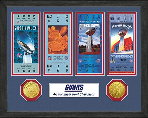 New York Giants Super Bowl Championship Ticket Collection Licensed NFL Football Gift