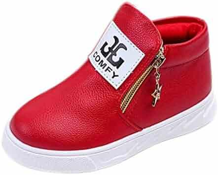 0445e26451cb Auwer Children Casual Sport Boy Girls Fashion Martin Boots Zipper Sneakers  Autumn Shoes Rain Boots
