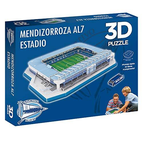 51rEfCgg6IL. SS500 Edición exclusiva del puzzle 3d estadio mendizorroza (producto oficial) De fácil montaje sin herramientas ni pegamento