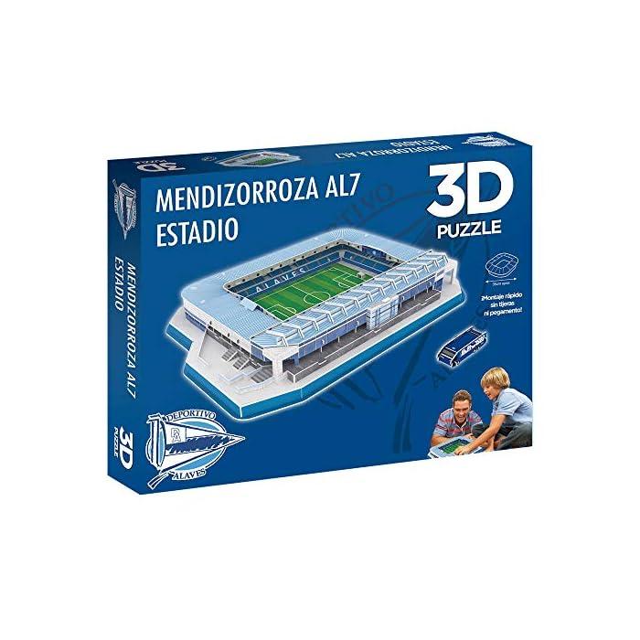 51rEfCgg6IL Edición exclusiva del puzzle 3d estadio mendizorroza (producto oficial) De fácil montaje sin herramientas ni pegamento