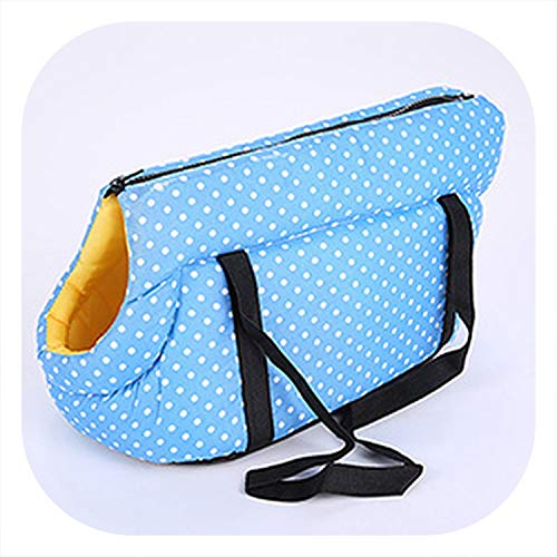 Better With You Soft Pet Backpack Dog Cat Shoulder Bags Carrying Outdoor Pet Dog Carrier Puppy Travel for Small Dogs Pet Products,Blue,40x25x28 cm
