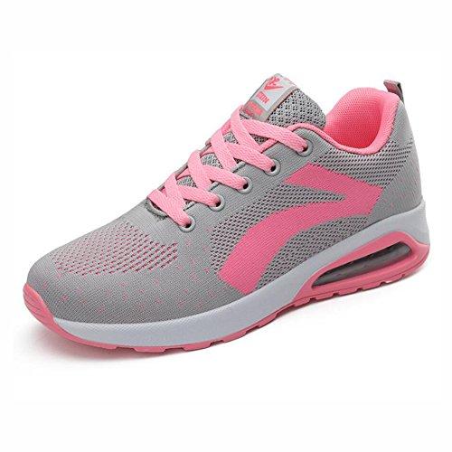Las zapatillas de deporte de las mujeres, los nuevos zapatos de los deportes del verano, las mujeres bajas ayudarán a volar los zapatos respirables de la malla tejida, ( Color : UN , tamaño : 39 ) UN