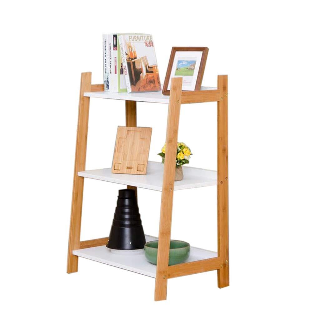 JCAFA Shelves Book Shelf Living Room Corner Flower Stand Bedroom Corner Shelf Multi-Layer Bamboo Frame Floor Stand