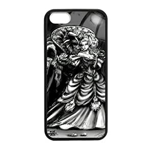 Zyhome iPhone 5,5S Art Mystic Beauty and the Beast Design Case Cover for iPhone 5,5S TPU (Laser Technology)