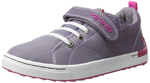 Viking Frogner, Zapatillas de Deporte Exterior Unisex Niños Violett (Grey/Magenta)