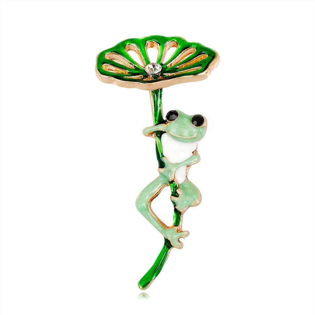 Goodplan Premium Qualit/é Lotus et Grenouille Broche Pendentif Broche De Mode Broche Dames Badges pour Robe De Mariage Bijoux Fille Petit Cadeau
