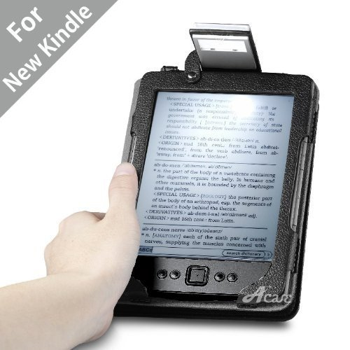 Acase Lighted Leather Case for Kindle 4 , NOT FOR KINDLE TOUCH Black