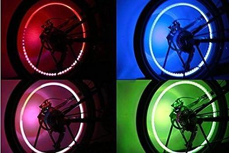 Red Pesp 2pcs Auto Wheel Tire Light LED Lamp Wheel Valve Cap Light for Car Bike Bicycle Motorcycle