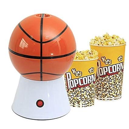 Krevia Plastic Basketball Popcorn Maker for Home Use, 1pc (Orange Color)