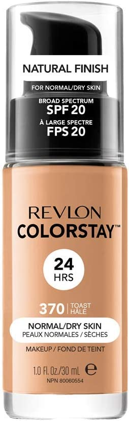 Oferta amazon: Revlon ColorStay Base de Maquillaje piel normal/seca FPS20 (#370 Toast) 30ml